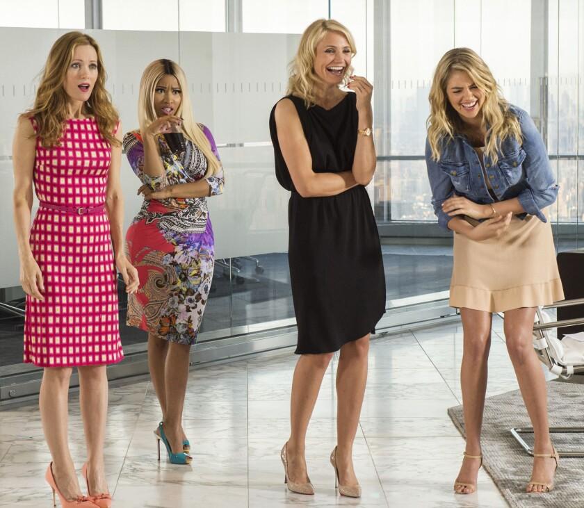 """Leslie Mann, Nicki Minaj, Cameron Diaz and Kate Upton in """"The Other Woman."""""""