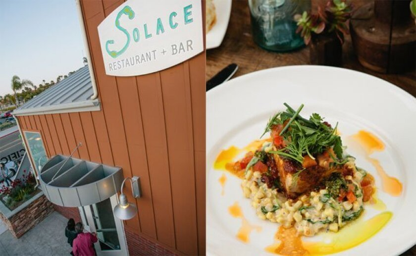 Scenes from Solace and The Moonlight Lounge in Encinitas, host to an upcoming Chef Celebration fundraising dinner.