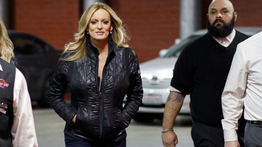 Stormy Daniels in North Hollywood in February.