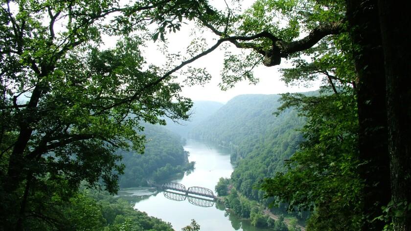 A bridge in West Virginia, in Appalachia