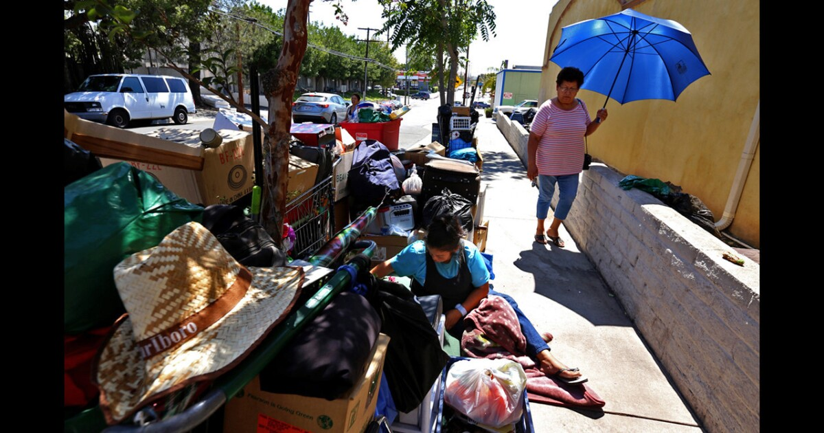 Under pressure, L.A. agrees to provide 6,000 new beds to clear homeless camps under freeways