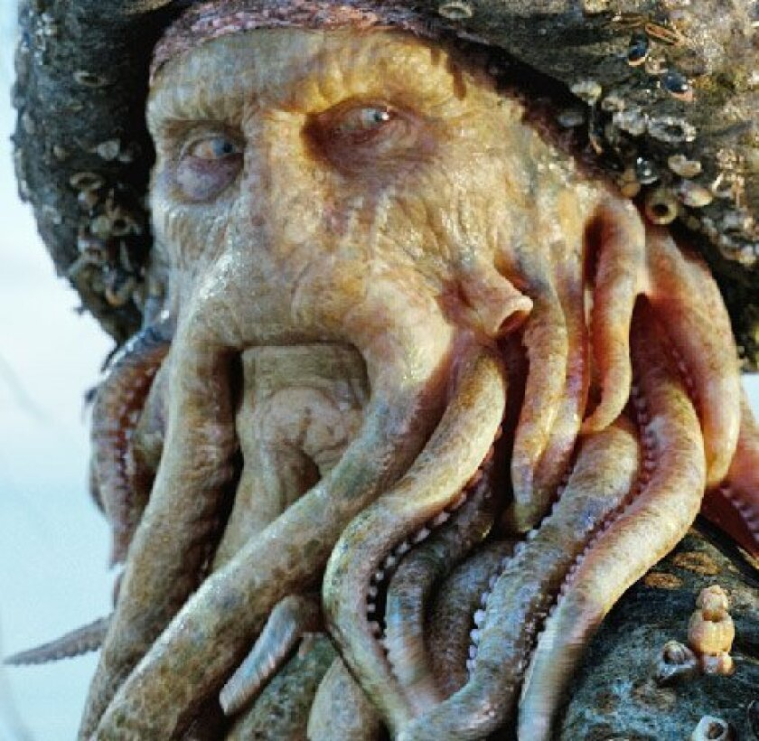 <strong>Davy Jones, played by Bill Nighy</strong>