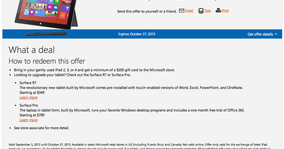 Microsoft will pay iPad users at least $200 to switch to