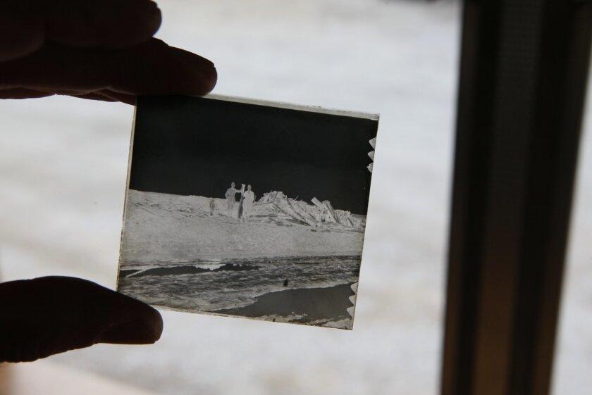 One of the World War I vintage glass slides Orlov found inside a French camera.