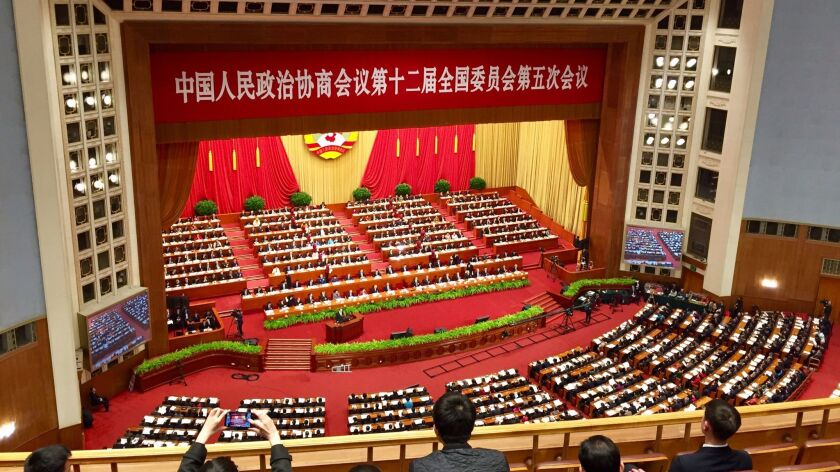 The world's largest legislature meets in the Great Hall of the People, a massive granite-columned building on Tiananmen Square that represents the political heart of China.