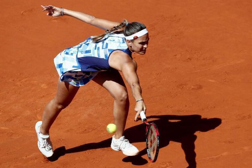 Imagen de archivo de la tenista de Puerto Rico Mónica Puig. EFE/Archivo