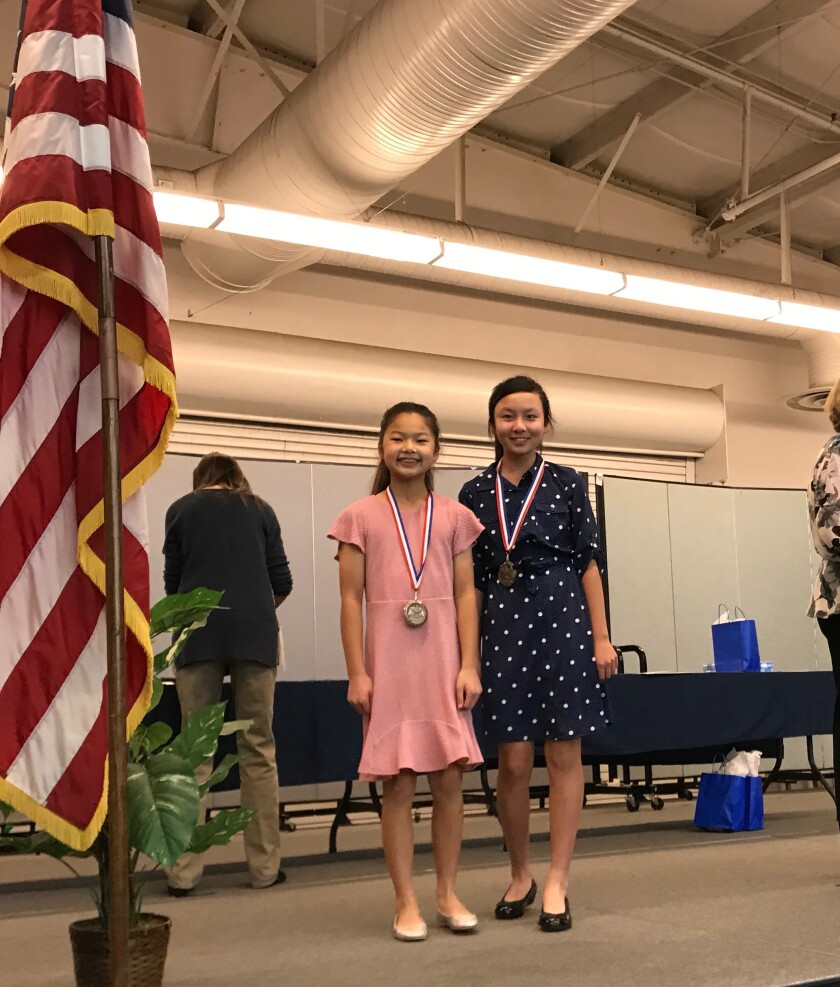 Students Sydney Mafong and Kaelyn Liu won in the Group Documentary division.