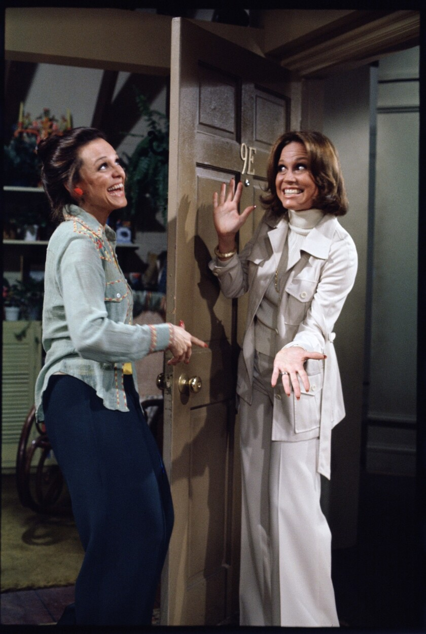 "Valerie Harper and Mary Tyler Moore on ""Rhoda"""