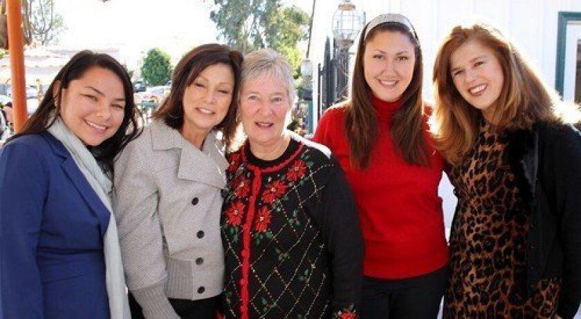 Temma Markham, Verna Griffin-Tabor, Betsy Jones, Lani Testa, Pearl Padovano (Photo: Jon Clark)