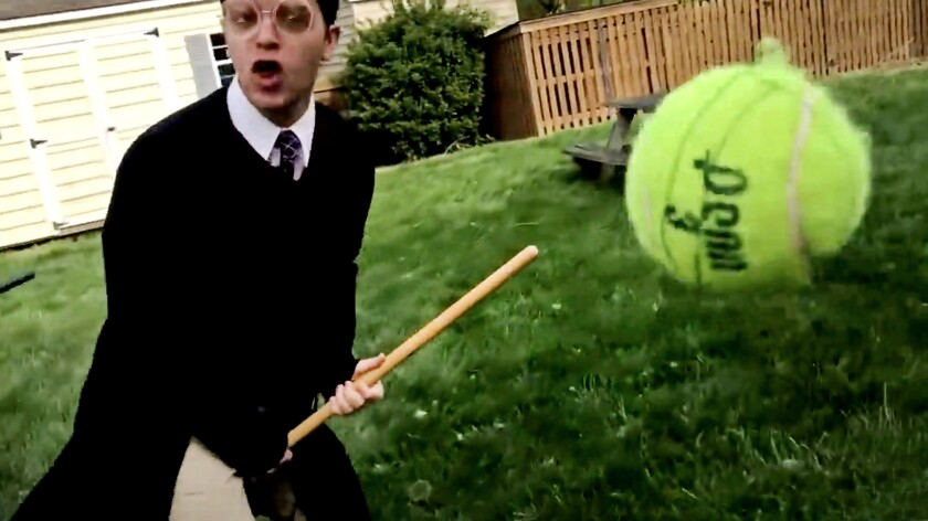 Taylor Bybee plays Harry Potter