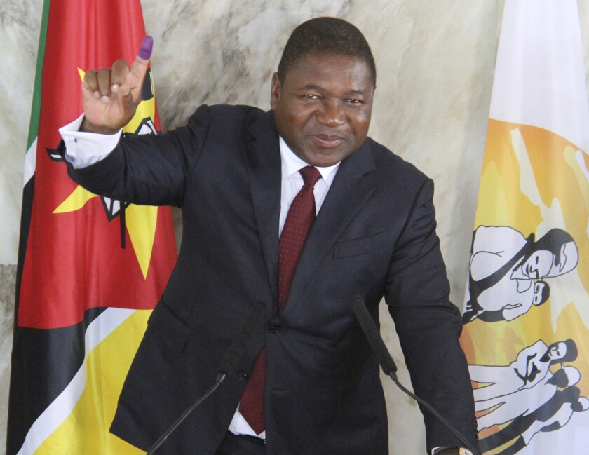 Mozambican President Felipe Nyusi during elections in October 2019