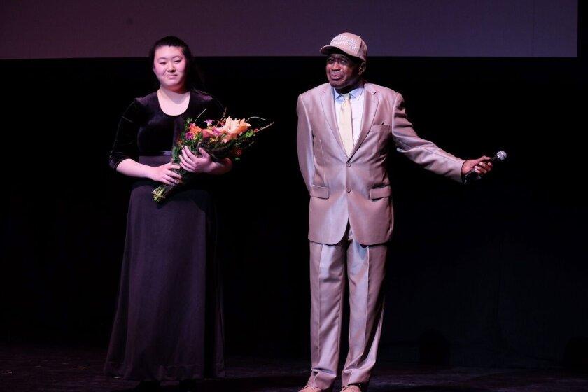 Yvonne Li with Ben Vereen.
