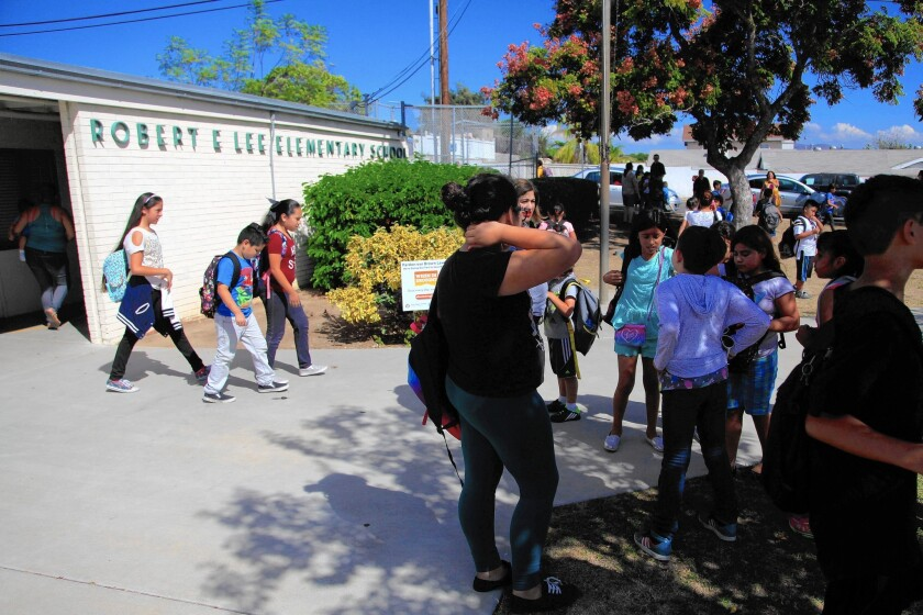 Robert E. Lee Elementary in San Diego plans to hold two community forums to discuss whether the school should be renamed.