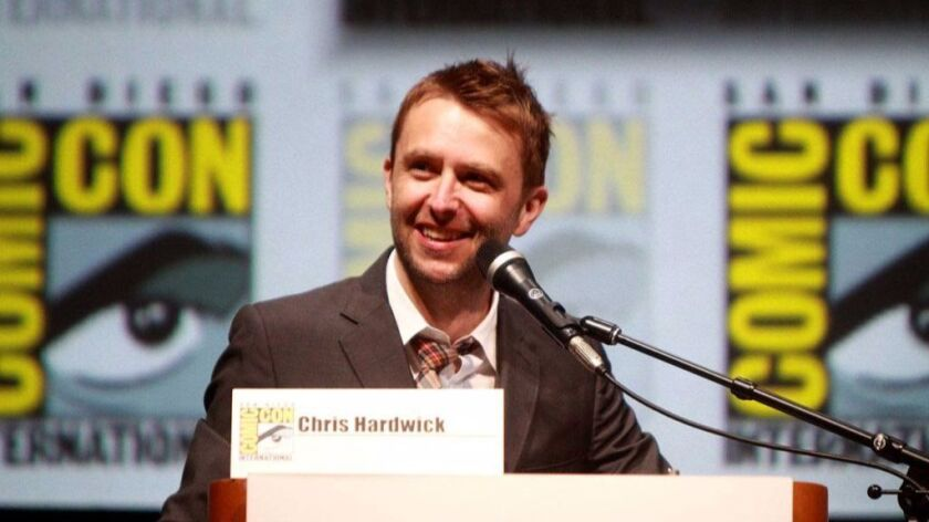 Chris Hardwick is the king of hosting panels during Comic-Con.