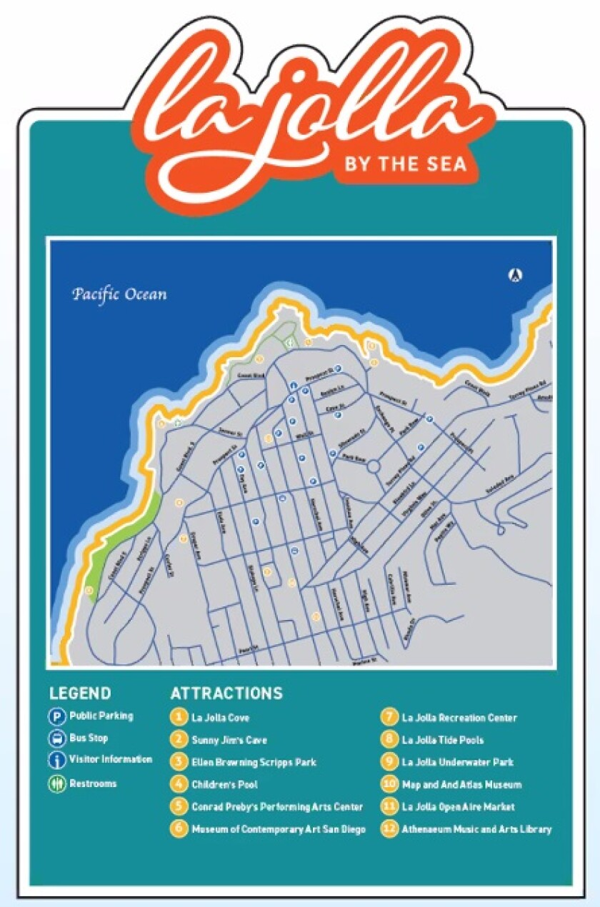 A rendering depicts a possible directional sign in La Jolla.