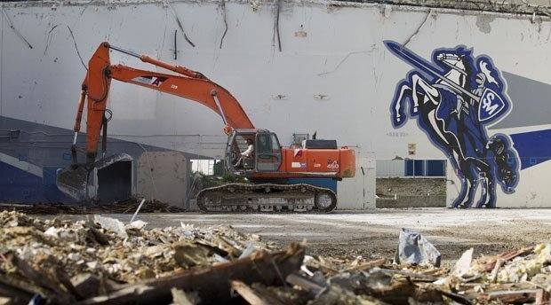 San Marcos High Demolition