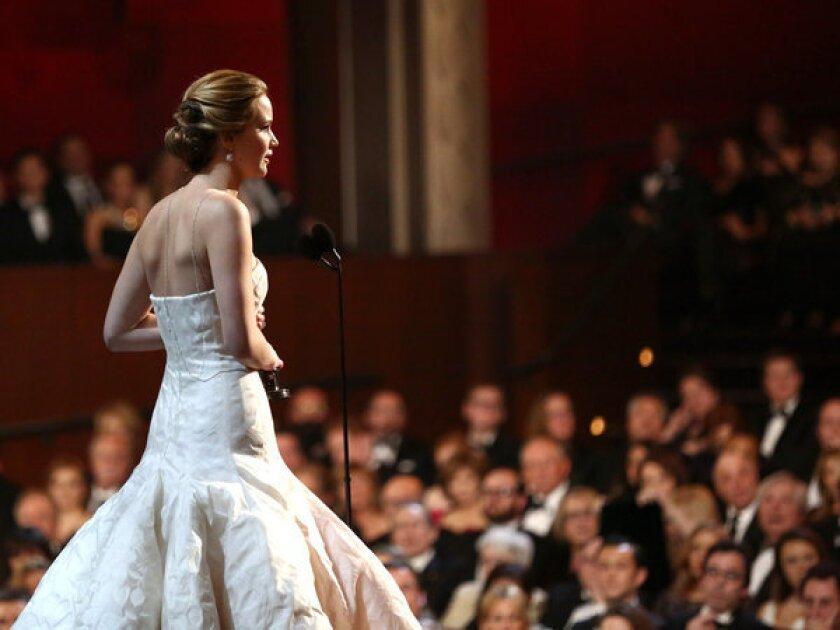 Oscars 2013: Jennifer Lawrence wins best actress