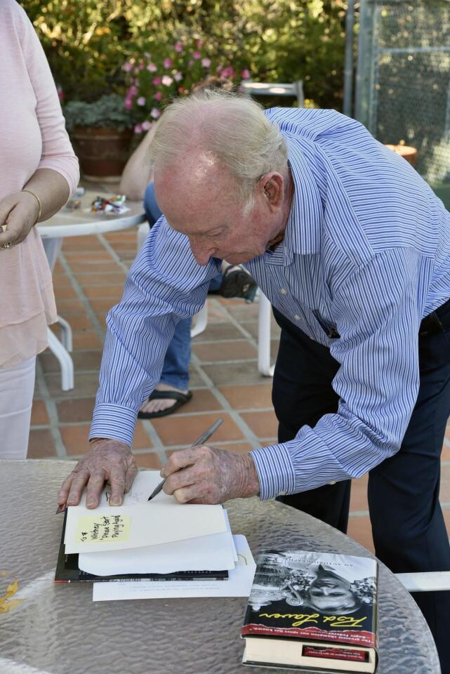 Guests received autographed copies of Laver's new book