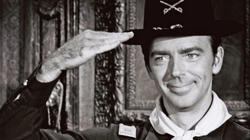 """The late Ken Berry as Capt. Wilton Parmenter in a 1967 episode of the ABC situation comedy """"F Troop."""""""