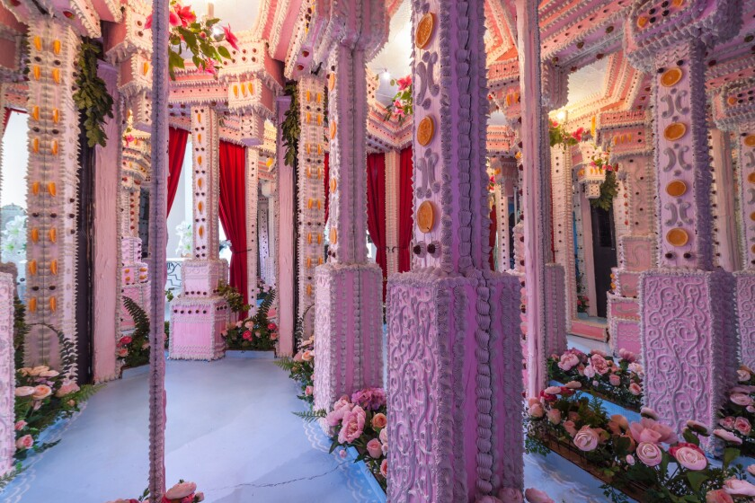 """Scott Hove's immersive cake maze is part of the two-installation show """"Break Bread"""" (with artist the Baker's Son) at Think Tank Gallery."""