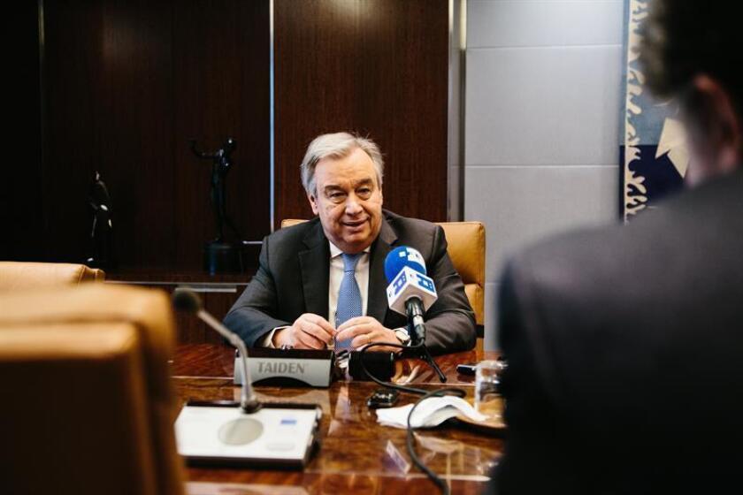 El jefe de la ONU, António Guterres, anunció hoy que, ante la falta de avances, va a dejar en manos de la Corte Internacional de Justicia (CIJ) la solución a la disputa entre Venezuela y Guyana por la región del Esequibo. EFE/Archivo
