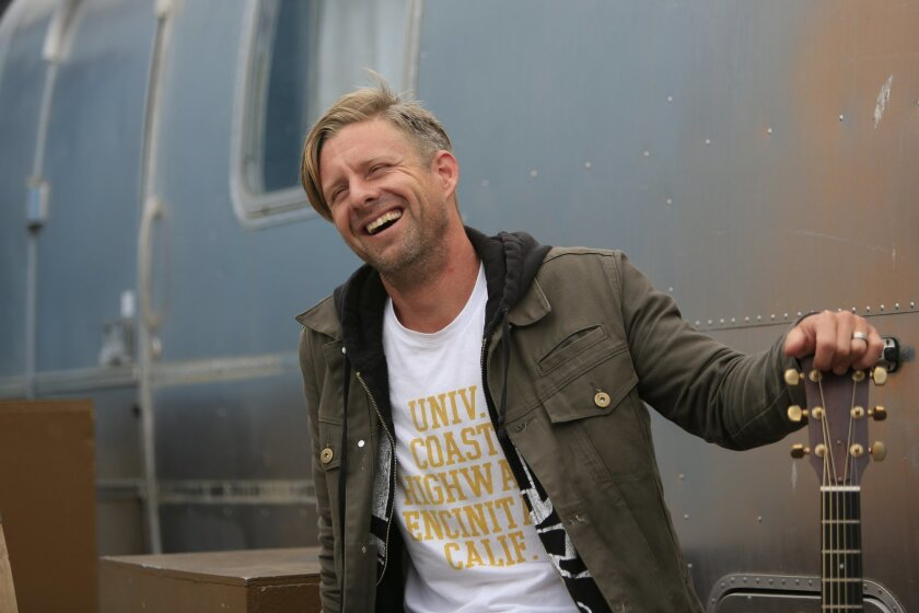 Jon Foreman, lead singer of Switch at the new Bro Am Studios set to open in July in Encinitas. The studio will provide guitar and piano lessons and contains a performance stage so young artists have the opportunity to play in front of an audience.