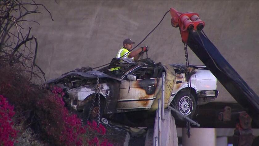 Five killed, one seriously injured in Irvine freeway crash