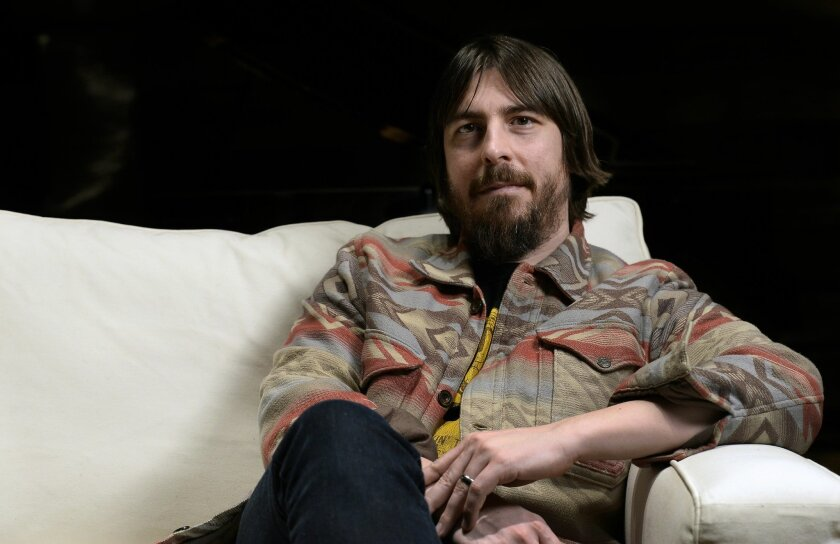 """In this Jan. 29, 2016 photo, music producer Dave Cobb poses in the historic RCA Studio A in Nashville, Tenn. Cobb is nominated for non-classical producer of the year and album of the year for Stapleton's """"Traveller"""" at this year's Grammy Awards. (AP Photo/Mark Zaleski)"""