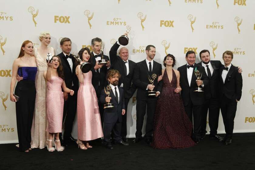 """The """"Game of Thrones"""" cast and crew celebrate their Emmy win for drama series."""