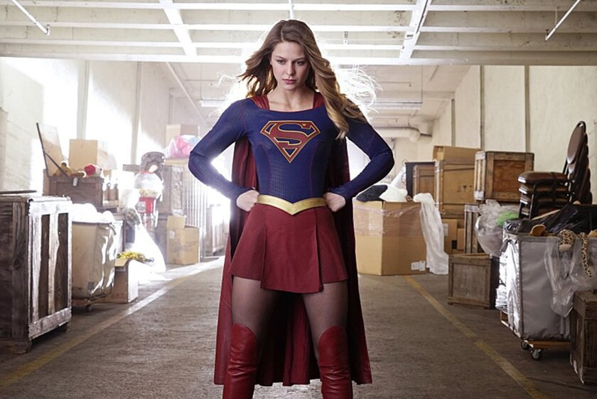"""Supergirl's"" Melissa Benoist will be moving to the CW, home of fellow DC heroes the Flash and Arrow, for Season 2."