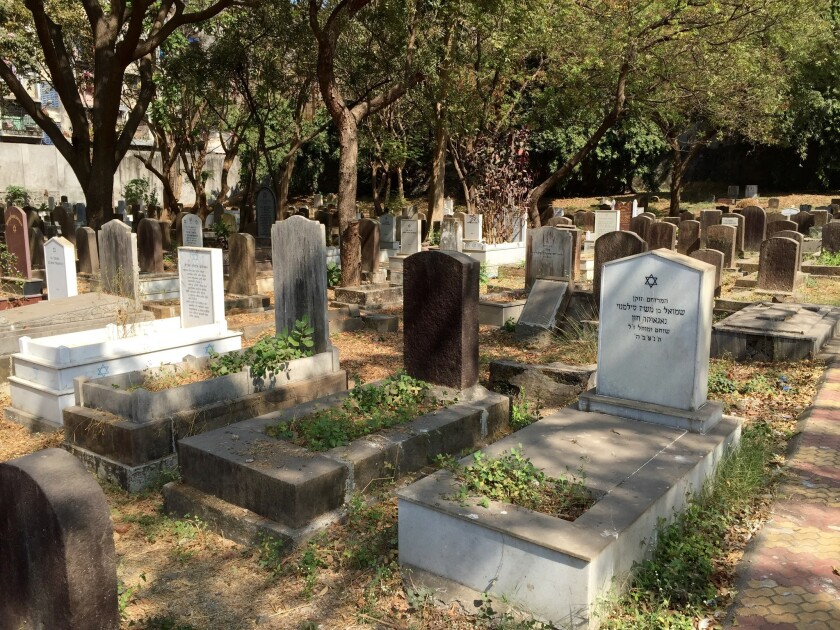 The cemetery in central Mumbai, India, houses the remains of the city's Bene Israel Jews.