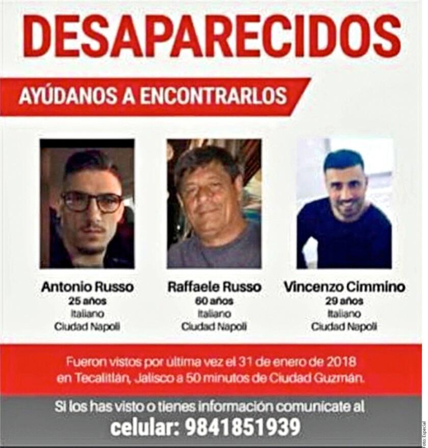 Además del Comisario Hugo Enrique Martínez Muñiz, otro mando de la Policía de Tecalitlán, presuntamente implicado en la desaparición de los tres italianos, está ilocalizable.