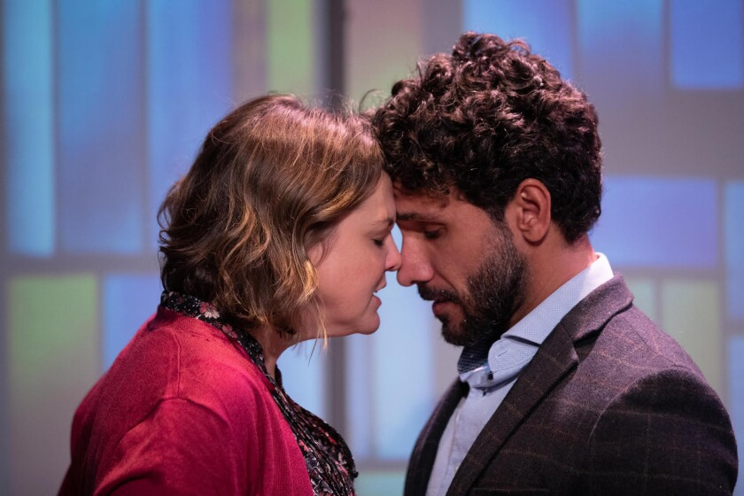 """Larisa Oleynik and Iman Nazemzadeh in """"Miss Lilly Gets Boned"""""""