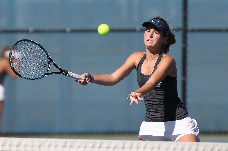 Photo gallery: Newport Harbor vs. Troy in girls' tennis