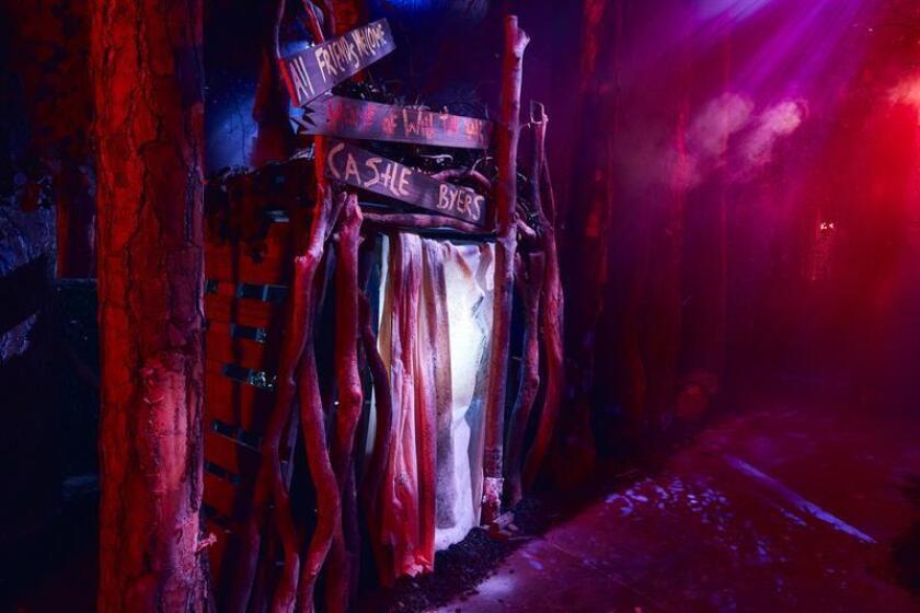 """Fotografía cedida por Universal Orlando donde se muestra un túnel en el sótano de la casa embrujada de la primera temporada de """"Stranger Things"""", que este 14 de septiembre se inaugura en las noches de Halloween Horror Nights en el parque Universal en Orlando, Florida (EE.UU.). EFE/Ken Kinzie/Universal Orlando/SOLO USO EDITORIAL"""