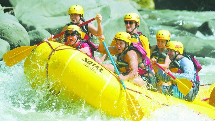 Two days of white water covered 21 miles on the Pacuare, one of the world's best rafting rivers.