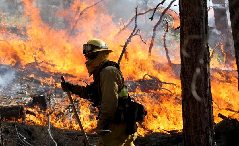 Lake fire in the San Bernardino National Forest