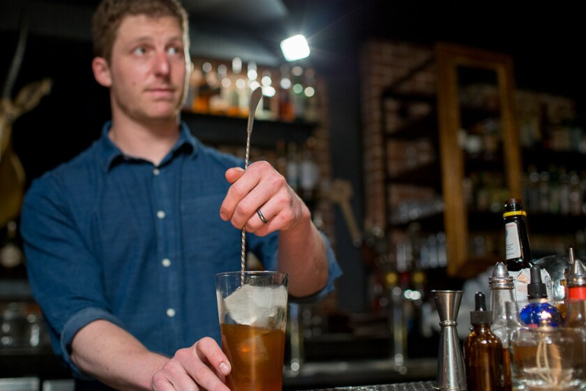 Jason O'Bryan is the bar manager at The Lion's Share in downtown San Diego.