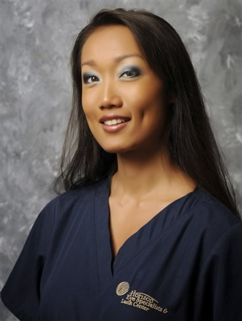 FILE - This August 2008 file photo released by Horizon Eye Specialists & Lasik Center shows Rebecca Zahau. The family of Zahau, a woman whose nude, bound body was found hanging in a California mansion has filed a $10 million lawsuit claiming she was murdered. (AP Photo/Horizon Eye Specialists & Lasik Center, Dwight Smith) MANDATORY CREDIT