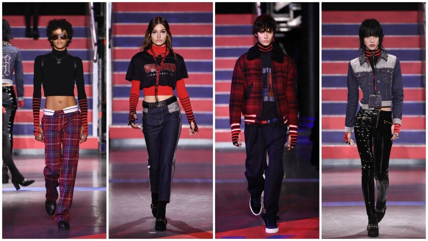 "Rock 'n' roll-inspired fall and winter 2017 looks from the ""TommyNow: Rock Circus"" fashion show at L"