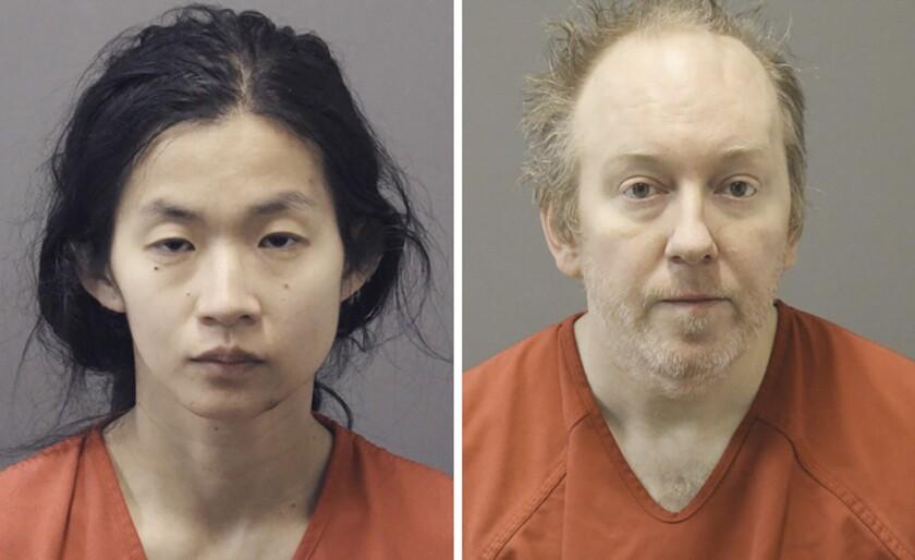 Booking photos show Stephanie Ching and Douglas Lomas.