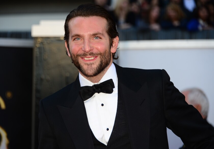 "Lead actor nominee Bradley Cooper (""Silver Linings Playbook"") arrives on the red carpet for the Oscars."