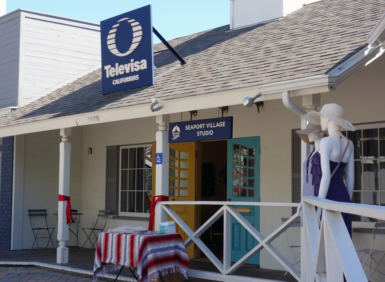 Televisa Californias studio in Seaport Village, San Diego, April 29, 2021.