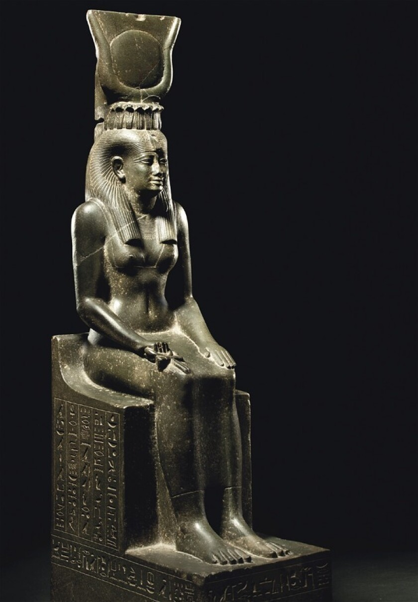 Statue sets world record for ancient Egyptian work at Christie's