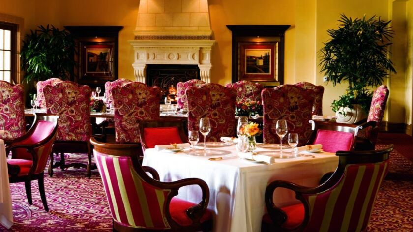 The dining room at Addison Del Mar.