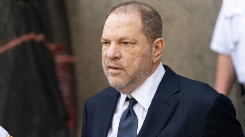 Harvey Weinstein leaves New York Criminal Court after his arraignment on June 5, 2018.