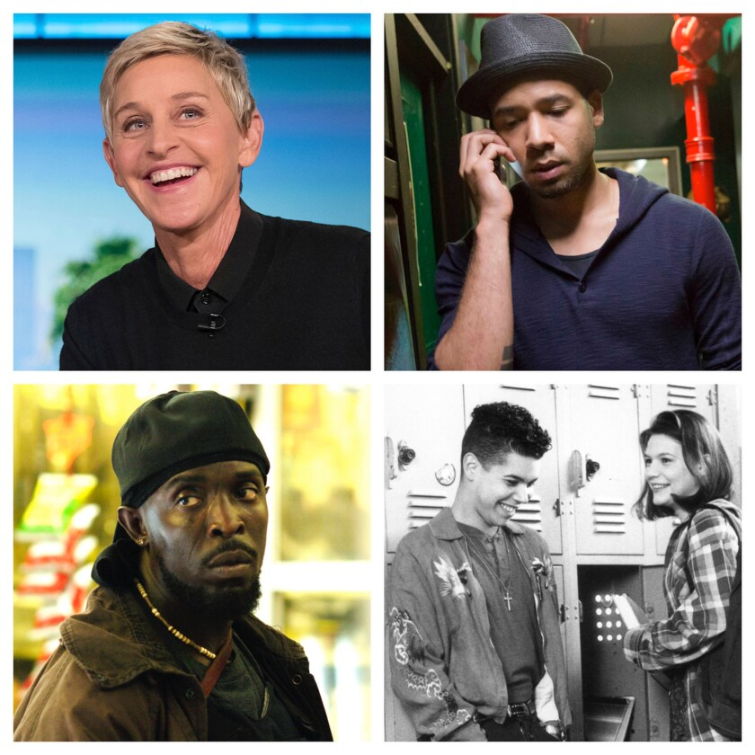 "Queer milestones in ""Visible: Out on Television"" include ""Ellen,"" ""Empire,"" ""My So-Called Life"" and ""The Wire."""