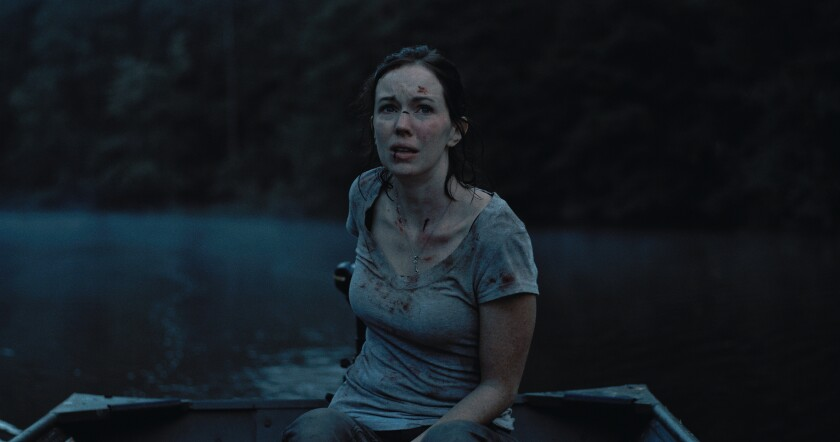 Bethany Anne Lind in the movie 'Blood on Her Name'