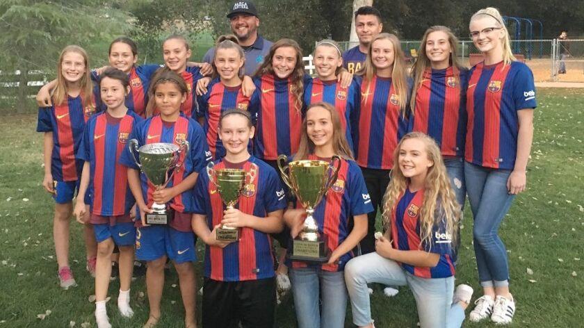 Barca Cantera girls soccer team.