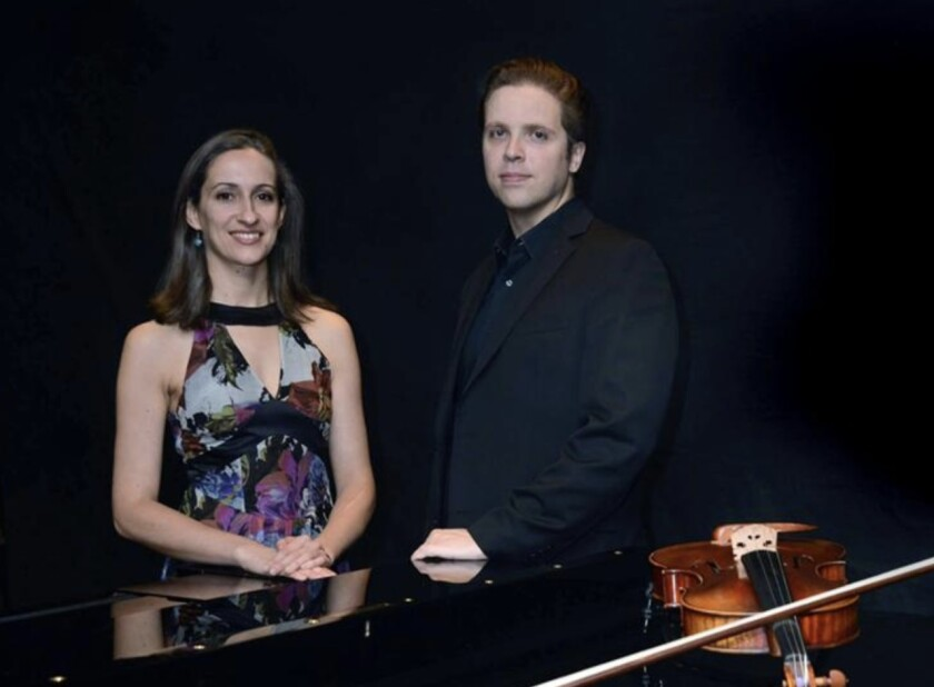 French violist Virginie d'Avezac amd pianist Zachary Deak will perform March 11 at the Carmel Valley Library.